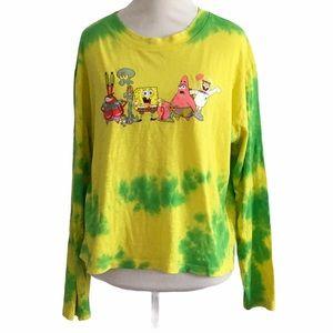 Nickelodeon SpongeBob tie-dye shirt XL
